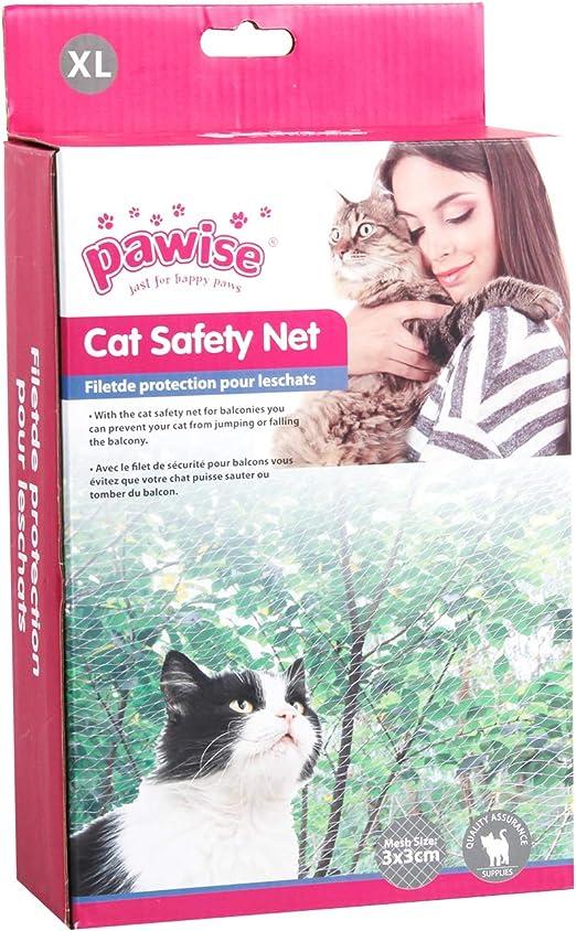 Pawise - Red de protección para Gatos, Transparente: Amazon.es ...