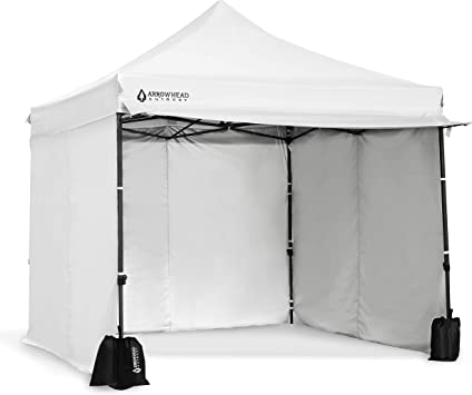 Height Adjustable Wheeled Carry Bag USA-Based Easy One Person Setup Guide Ropes /& Stakes Included ARROWHEAD OUTDOOR 10/'x20/' Heavy-Duty Pop-Up Canopy /& Instant Shelter Water /& UV Resistant Fabric