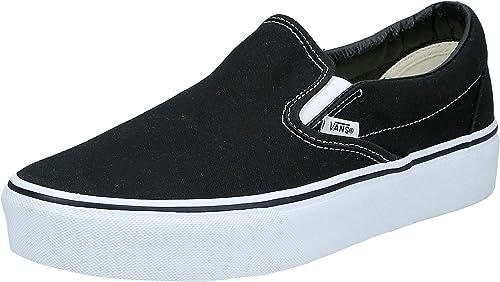 vans platform slip on black