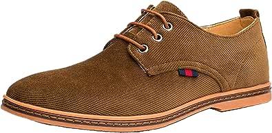 Dadawen - Zapatos de ciudad para hombre Oxfords con cordones Derbies