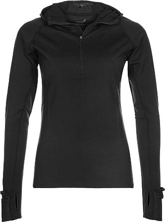Inov8 Race Elite Merino Womens Black Long Sleeve Half Zip Running Warm Top
