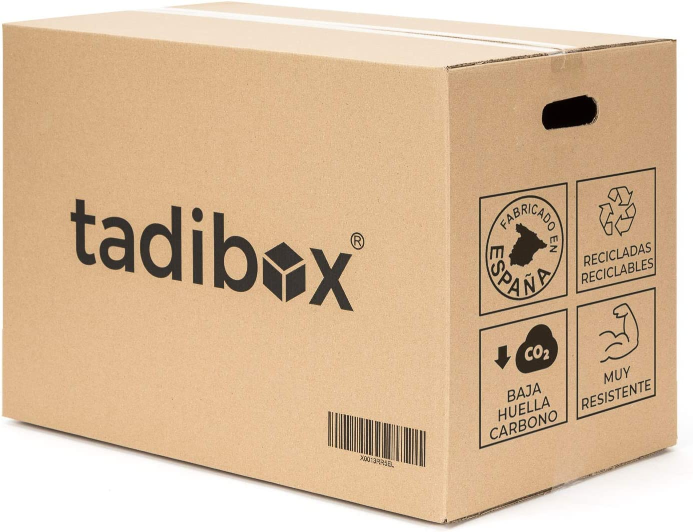 7 Cajas de Cartón para Mudanza (Talla L) con Asas - Extra Resistentes Fabricadas en España - 47x35x39cm Canal Doble Alta Calidad Reforzado - Combina las Cajas de Cartón (M/L/XL) y optimiza
