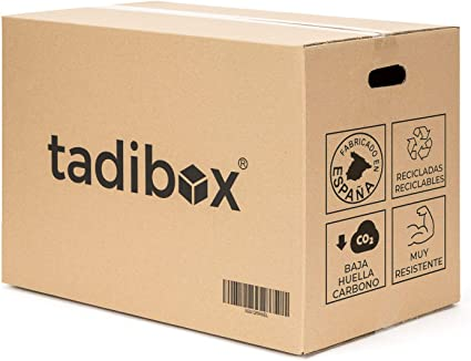 7 Cajas de Cartón para Mudanza (Talla L) con Asas - Extra Resistentes Fabricadas en España - 47x35x39cm