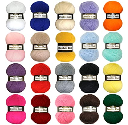 Marriner Yarns Double Knit Bumper Pack   20 x 100g Balls of Double Knitting  Yarn (6000m Approx)   100% Acrylic