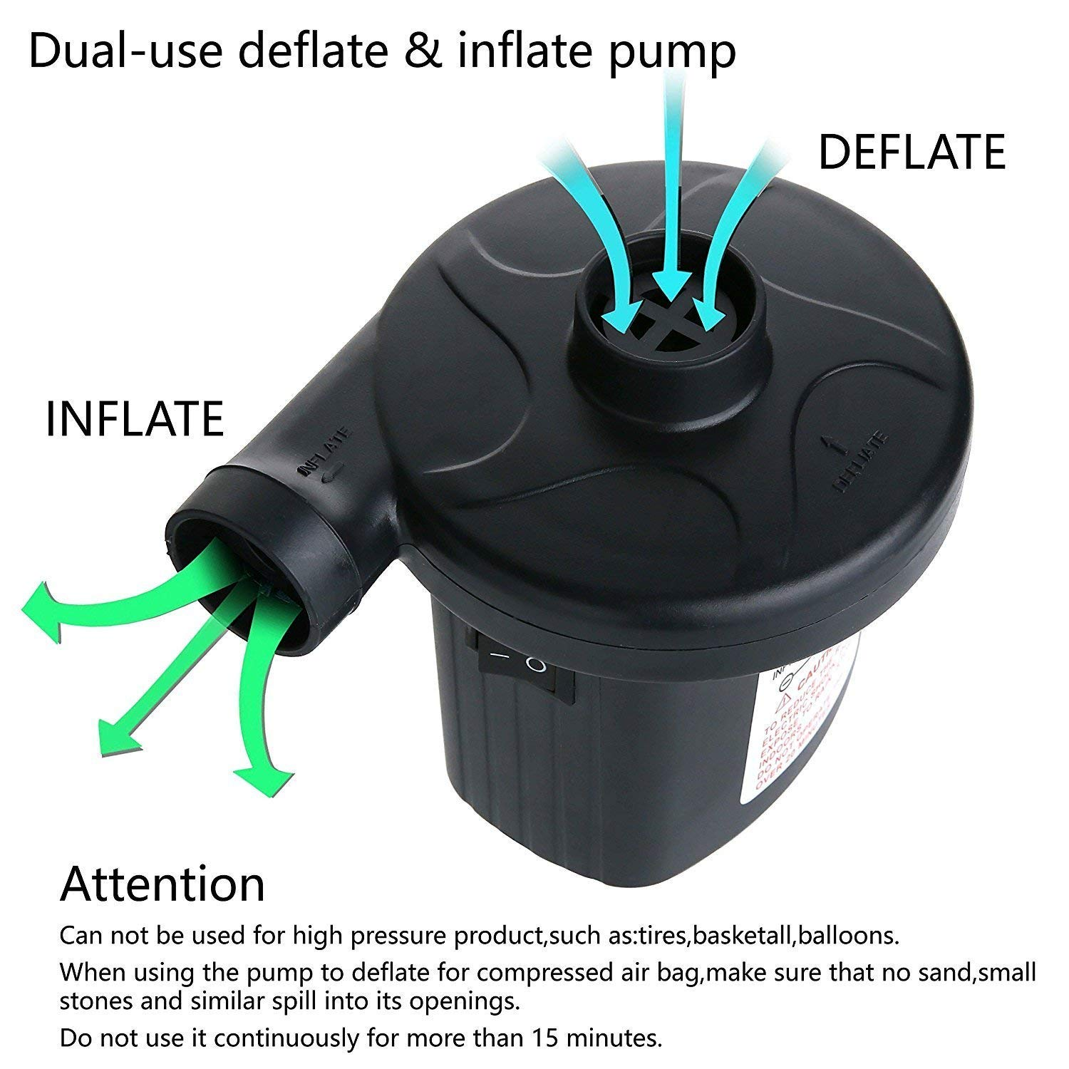 Billion Xin Portable Electric Air Pump, 2 in 1 Quick-Full ...