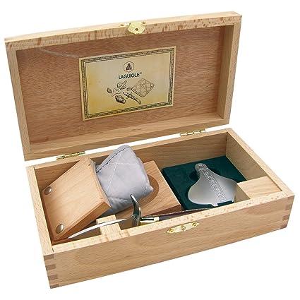 Laguiole 16149 Cubertería para ostras – Oyster Juego Truyere Cuchilla, acero inoxidable, Plata,