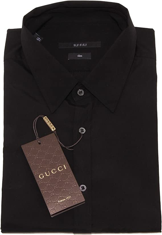 4203o Camisa Manga Larga Gucci negro bata hombre Shirts Men negro ...