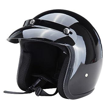 Iglobalbuy Casco de seguridad antideslizante, diseño de rostro descubierto, para moto,