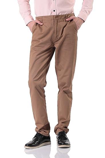 5047edb7be Pau1Hami1ton Men's Casual Straight Leg Chino Khaki Pants PH-15(30, Khaki)  at Amazon Men's Clothing store: