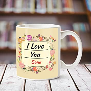 Buy Huppme I Love You Sonu Romantic Coffee Mug Online At Low Prices