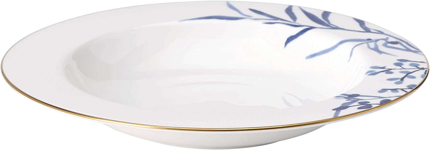 Kate Spade Birch Way Indigo Bowl 1 00 Lb White Kitchen Dining