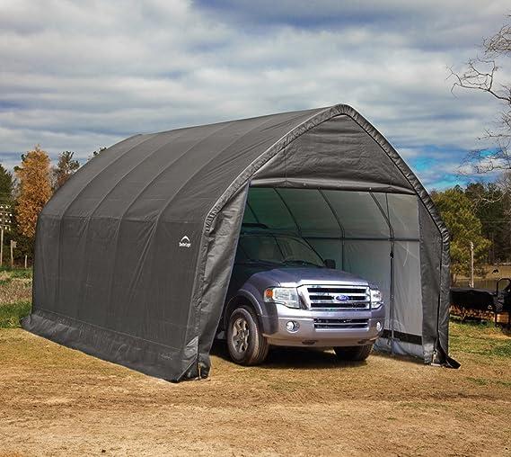 ShelterLogic 84570 Shelter ft Garages 12 x 20 x 9 Gray