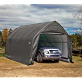 ShelterLogic 13' x 20' x 12' Garage-in-a-Box SUV and Full-Size Truck All-Season Metal Alpine Style Roof Portable Outdoor…