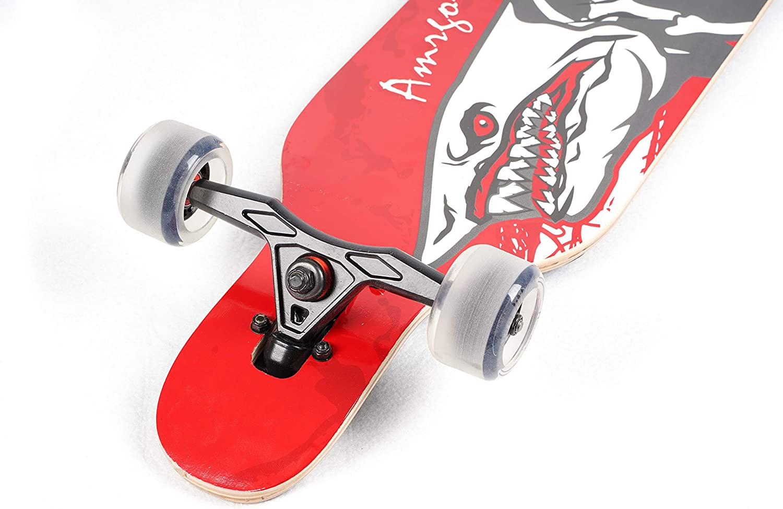 Amrgot Night Light Longborads Skateboards 42 inches Complete Drop Down Through Deck Cruise Professional Longboard