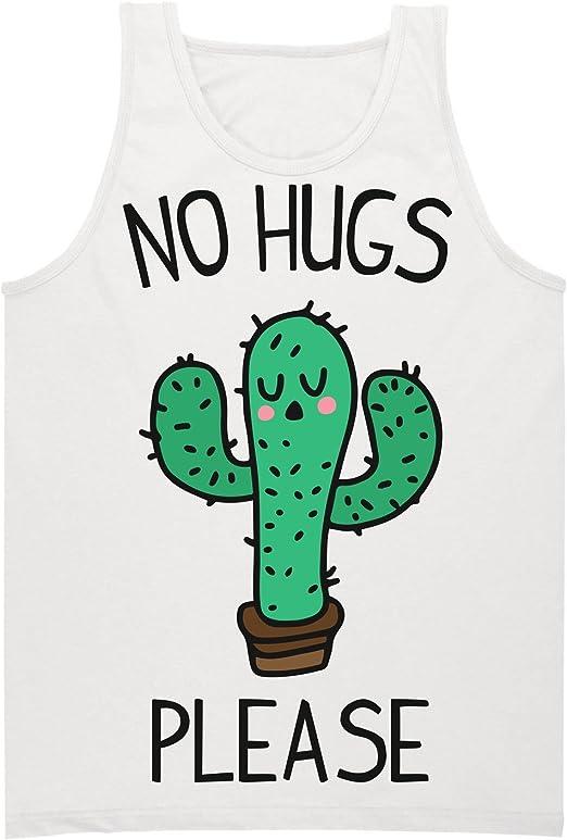 No Hugs Please Cactus Camiseta sin Mangas para Hombre XX ...