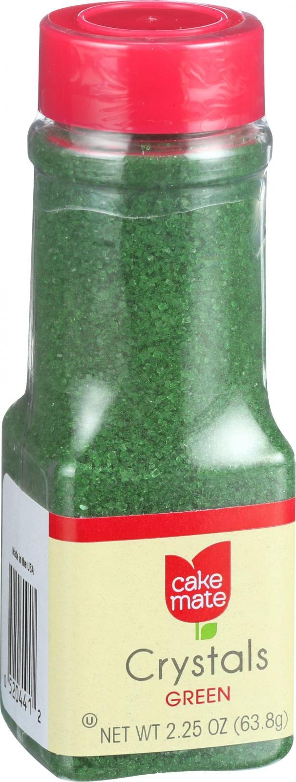 Cake Mate Decorating Decors - Crystals - Green - 2.25 oz - Case of 6
