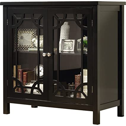 Amazon Standard Bolger Black Display Cabinet With Adjustable