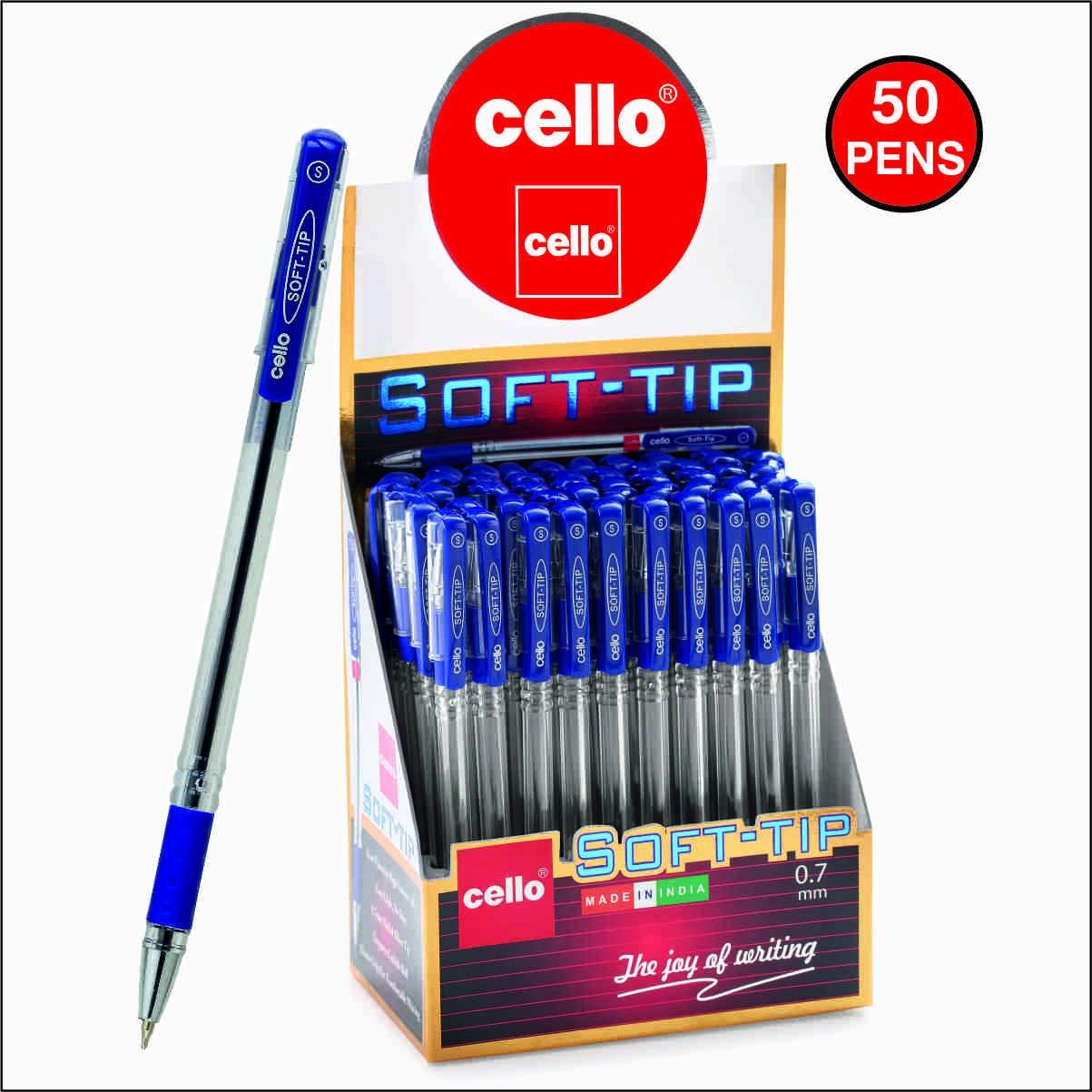 Cello Pens Export Pack 50 Soft-Tip Ballpen (Blue ink)