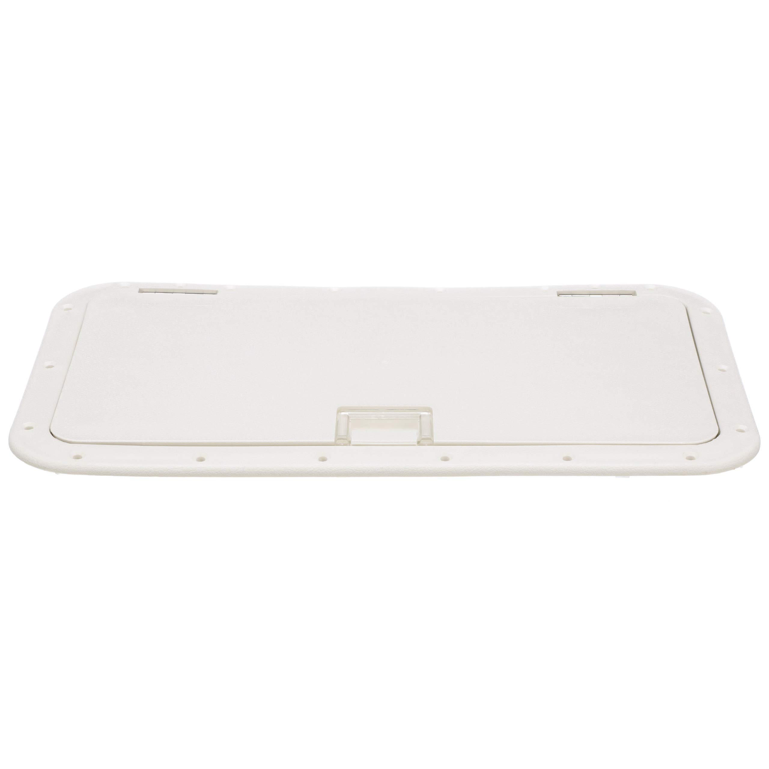 Seachoice 39151 Handle Hatch - White - 10 Inches x 20 Inches - Stainless-Steel Hinge by SEACHOICE