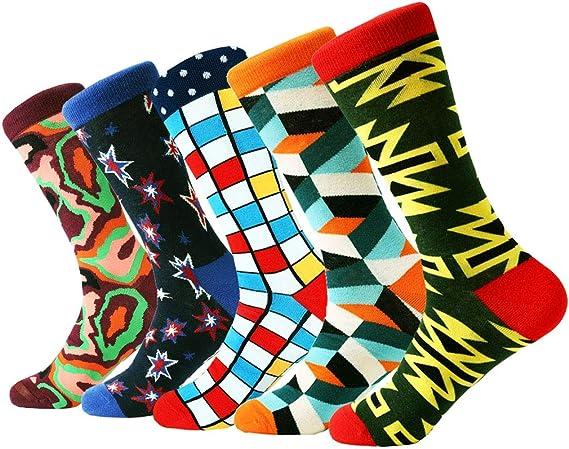 COTTON DAY Boys Fun Fashion Crew Socks Pack of 5