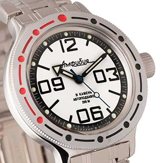 Vostok Militar ruso de anfibios Divers Reloj 420816 200 M mecánico automático auto: Amazon.es: Relojes