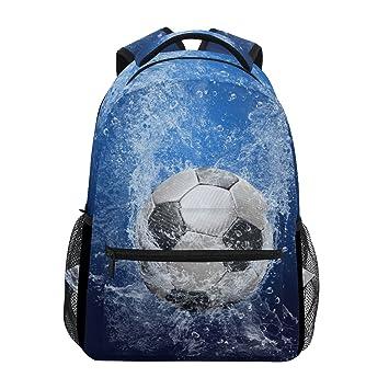 ZZKKO Mochilas de fútbol deportivas para colegio, libros, viajes, senderismo, camping, mochila: Amazon.es: Deportes y aire libre