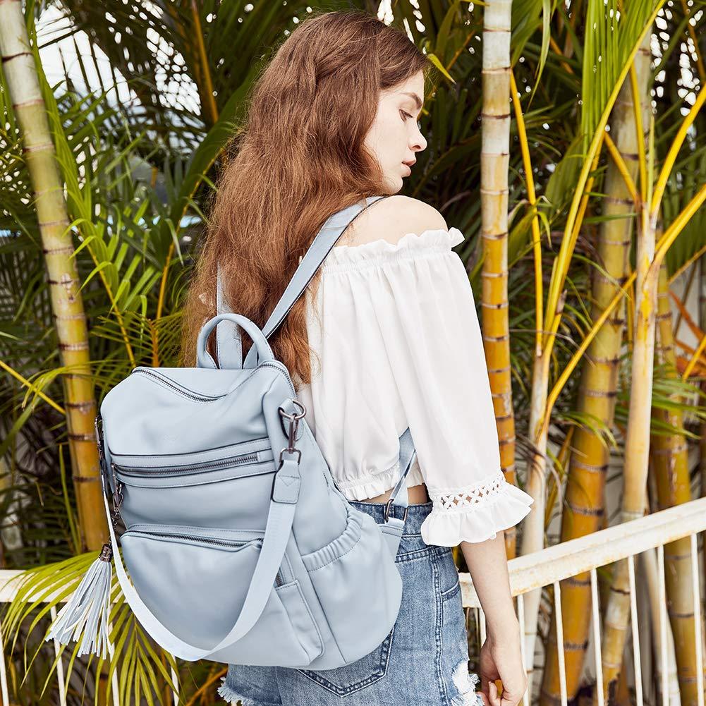 Mochila para Mujer Cuero Moda Designer Bolsa de Viaje Gran Capacidad Femenin Bolsa de Hombro Amarillo