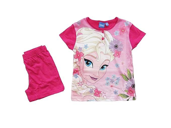 65db466a79 Disney Pigiama Bambina Estivo Elsa Frozen, a Maniche Corte in 100% Cotone -  46320