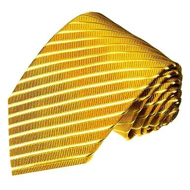 LORENZO CANA Oro Oro amarillas extra larga (165 cm) marcas corbata ...