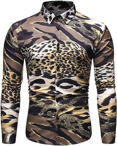 Sylar Camisa Hombre Manga Larga Casual Camisa De Estampado
