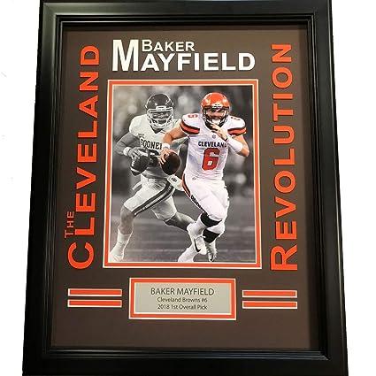 e77d03fe Amazon.com: Framed Baker Mayfield Cleveland Brown Revolution 8x10 ...