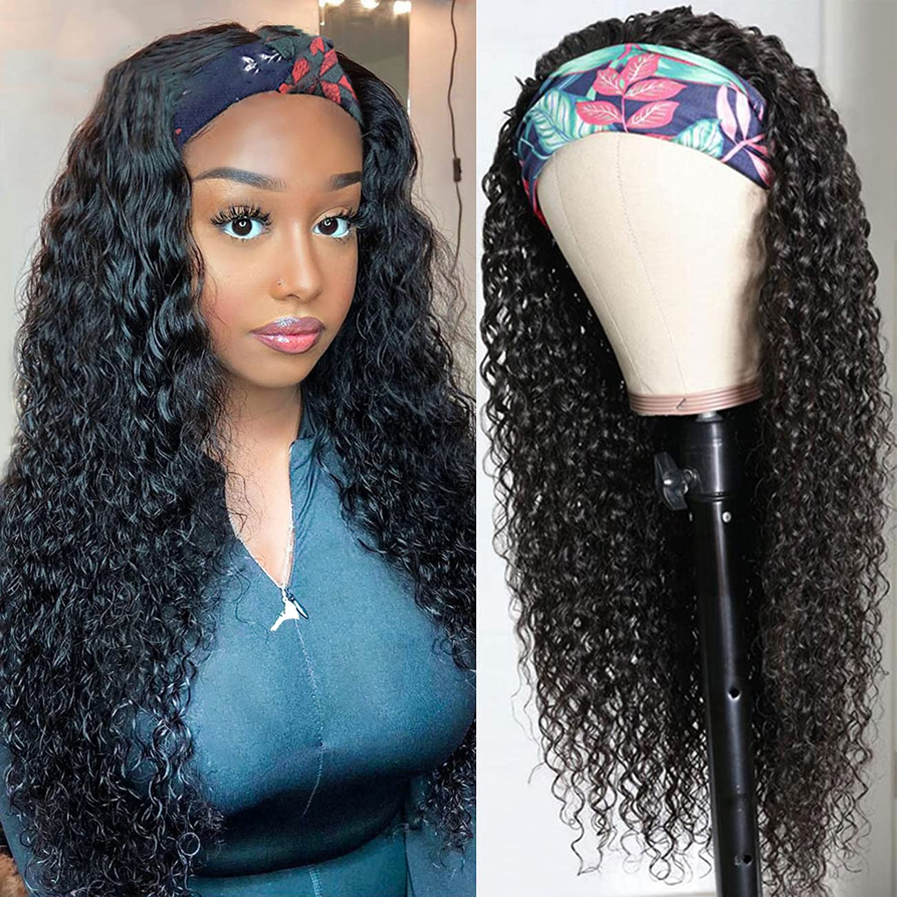 Headband Wig for Black Challenge the lowest price Women Water High quality new Wave Lace Hair None Human Fro