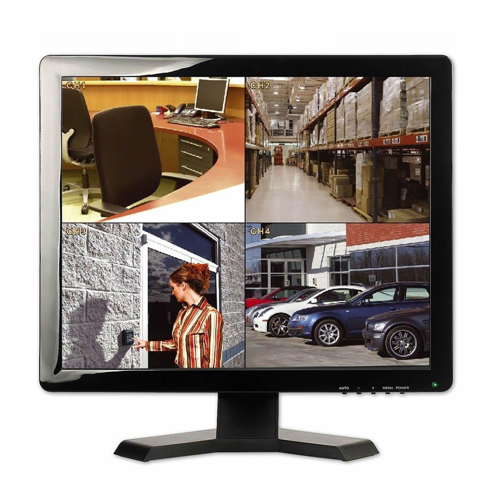combrite 19  CCTV Monitor BNC x 2 Plus HDMI y VGA ENTRADA PROFESIONAL TFT Monitor LCD para Seguridad CCTV sistemas