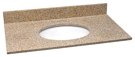 Design House 552489 Granite Vanity Top/Single Bowl, Golden Sand, 37 Inch