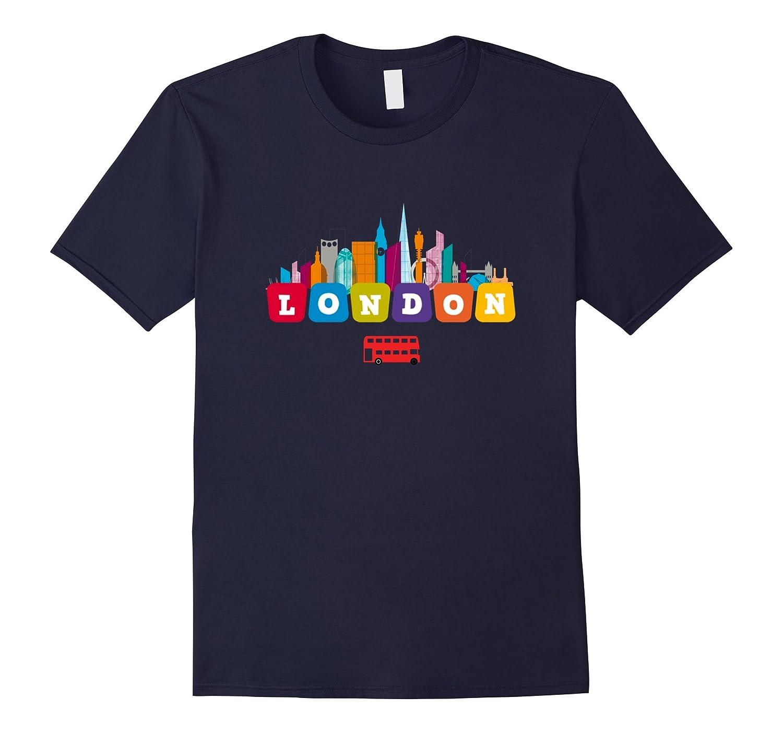 British London Tshirt - Skyline Capital Bus T-Shirt-CD