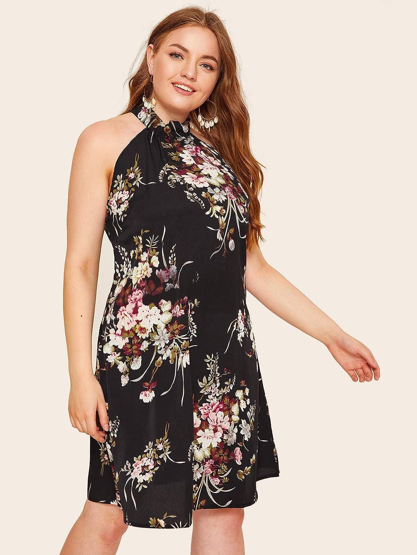 Floerns Womens Summer Chiffon Sleeveless Party Dress