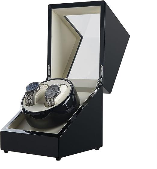 Sfeomi Caja Giratoria para Relojes con Doble Epítopo Estuche para Relojes Automaticos sin Ruido Caja de Relojes Automaticos para Mantener Buen Rendimiento de Reloj Mecánico (Negro): Amazon.es: Relojes