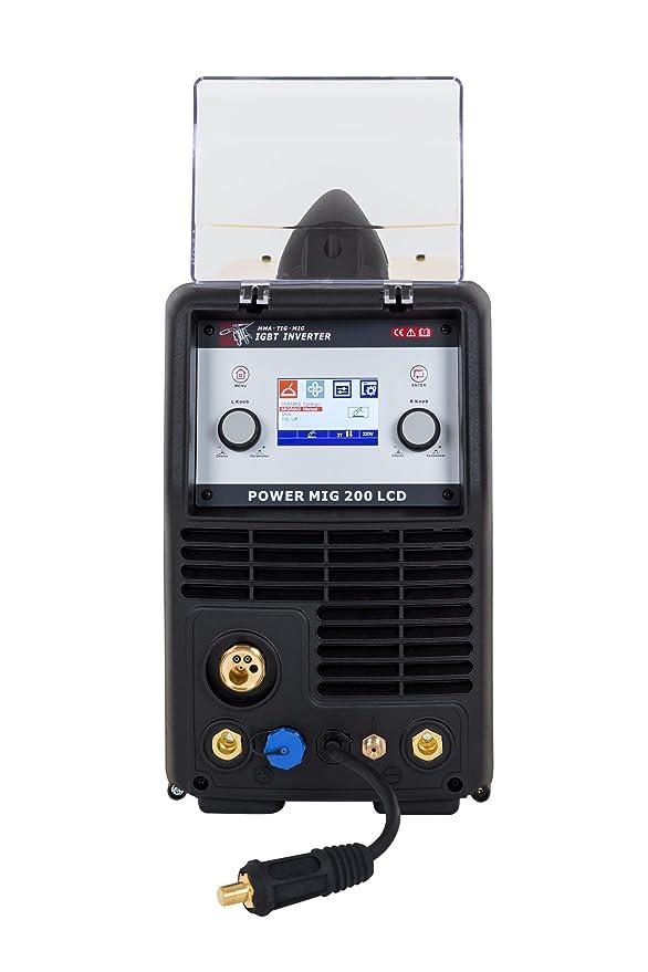 POWER MIG 200 LCD es el inversor de soldadura multiproceso perfecto | Maquina de soldar | Soldadora Inverter: Amazon.es: Bricolaje y herramientas