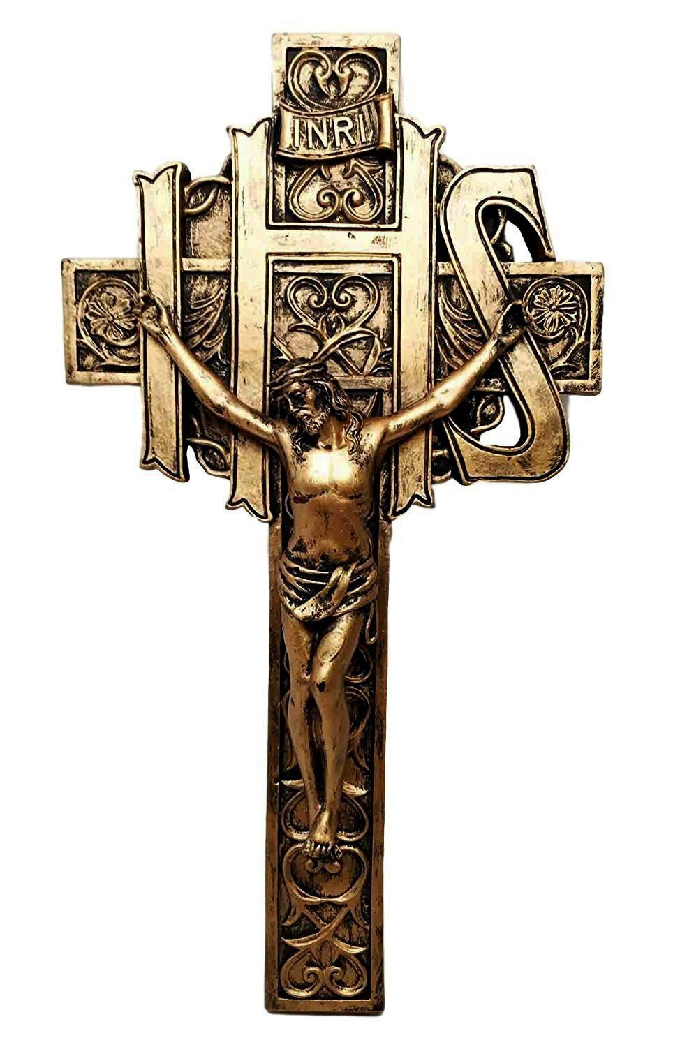 Amazon the ihs crucifix jesus on cross calvary wall plaque amazon the ihs crucifix jesus on cross calvary wall plaque statue christian catholic health personal care biocorpaavc Choice Image