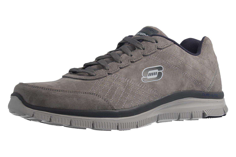 Skechers Herren Turnschuhe - Flex Advantage-Fast Trace - Grau Schuhe in Übergrößen