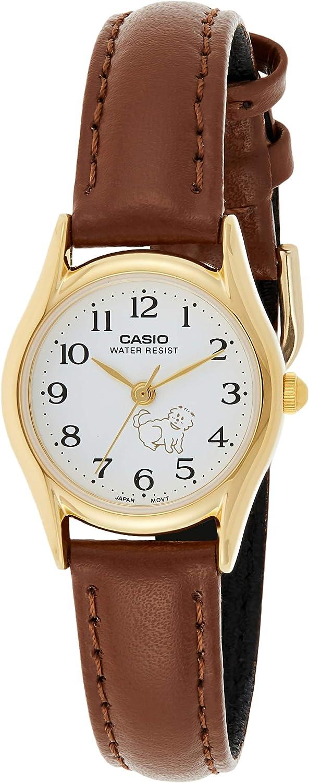 Casio White Dial Leather Strap Ladies Watch LTP1094Q7B