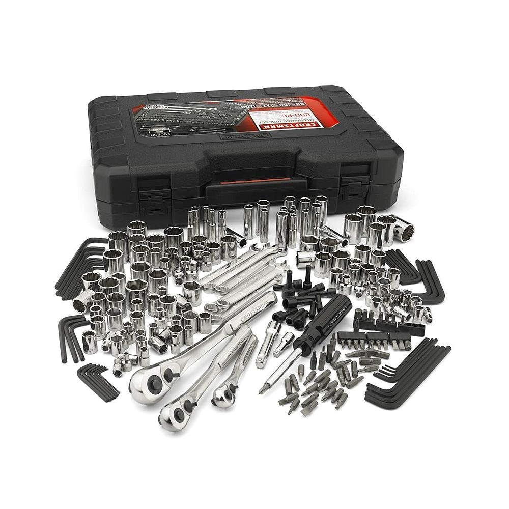 Craftsman 230-Piece Mechanics Tool Set - Great Set For A Workshop Or At Home - Professionel Tool Kit -Includes A Carrying Case by Craftsmann (Image #1)