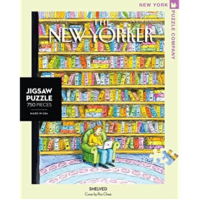 New York Puzzle Company - New Yorker Shelved - 750 Piece Jigsaw Puzzle: Toys & Games