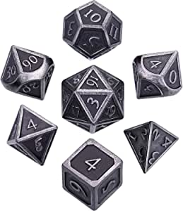 Metal d/&d dice Set is DND polyhedral dice Set for RPG Game Dungeons and Dragons with RPG dice Bag Including one 20 Sided dice in This Metal dice Set d/&d jojoyo jojoyo jojoyo