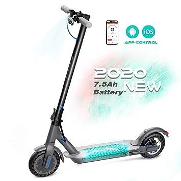 RCB Patinete Eléctrico 8.5 Pulgadas, Scooter Plegable, Scooter Eléctrico Ligero, Bluetooth y App Incorporada, Batería 7.5Ah de Larga Duración, Scooter ...