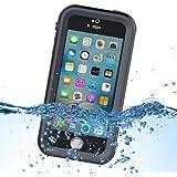 iPhone SE Wasserdicht Hülle, Weggo 6.6 ft Unterwasser IP68 Zertifiziert Vollständig Versiegelt Wasserdicht Stoßfest Schmutzdicht Hülle Schutzhülle für Apple iPhone SE/5/5S - Schwarz