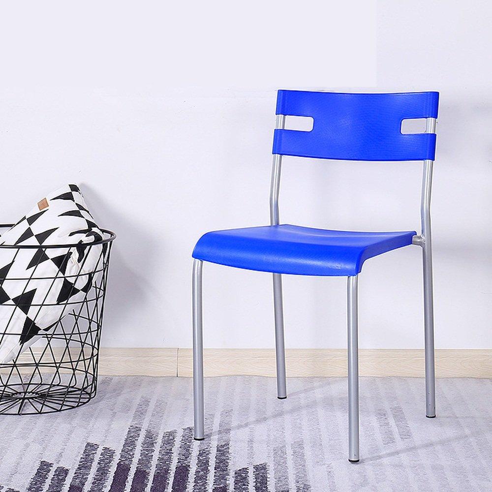美しい 家ホームプラスチック製の椅子/ダイニングチェアシンプルなアダルトスツール/現代的なシンプルなオフィスミーティングレジャーチェア -スツール ( 色 : 青 ) B07BNDW3S3 青 青