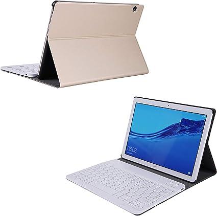 Huawei MediaPad M5 Lite 10.1 Funda de Teclado Huawei MediaPad M5 Lite 10.1 Funda de Cuero Folio Funda con Teclado Bluetooth de Plástico Desmontable ...