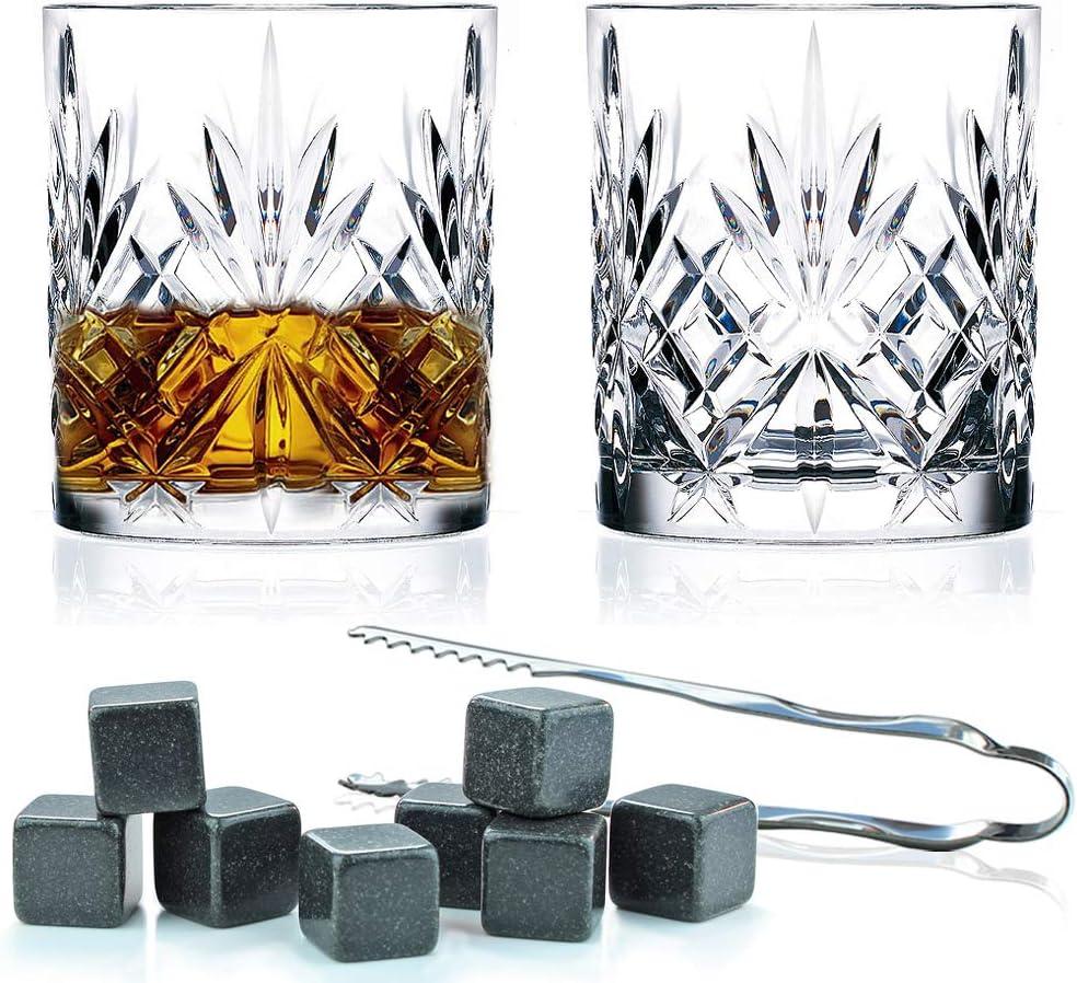 Flow Barware - Juego de vasos de whisky y vasos de whisky de ...