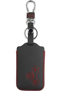 MAXIOU - Funda de Piel para Llavero Clio Megane Grand Scenic de 3 Botones, Red